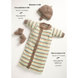 Model Baby sleeping bag CB13-41 - Free knitting pattern