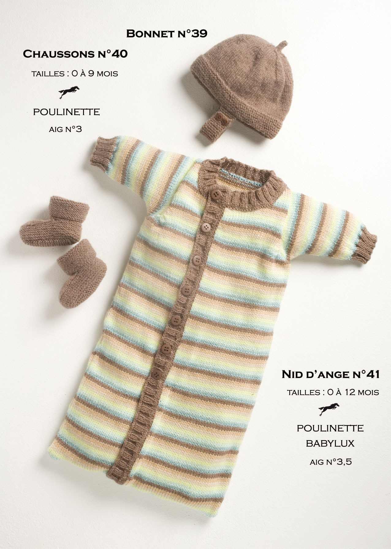 Model baby sleeping bag cb13-41 - free knitting pattern - Cheval blanc