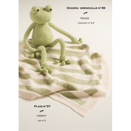 Model Doudou Frog Cb14 36 Free Knitting Pattern Cheval Blanc