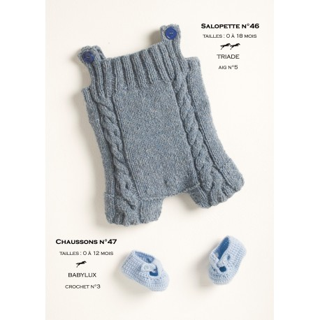Model Dungarees CB14-46- Free knitting pattern