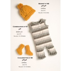 Model Jumpsuit CB15-47 - Free knitting pattern