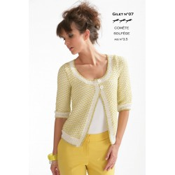 Model cardigan CB16-07- Free knitting pattern