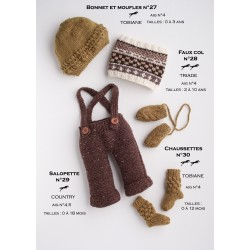 Model Overalls CB17-29 - Free knitting pattern