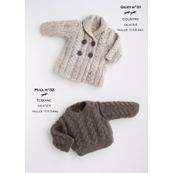 Model cardigan CB17-31 - Free knitting pattern
