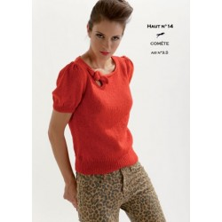 Model top CB18-14 - Free knitting pattern