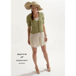 Model cardigan CB18-15 - Free knitting pattern
