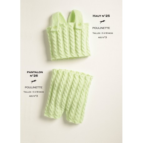 Model top CB18-24 - Free knitting pattern