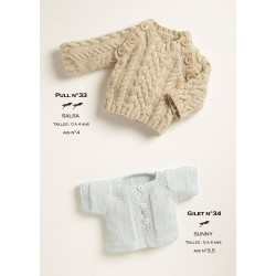 Model Cardigan CB18-33 - Free knitting pattern