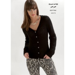 Model Cardigan CB19-03 - Free knitting pattern
