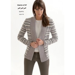 Model Jacket CB19-07 - Free knitting pattern