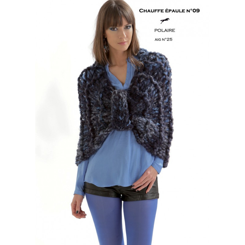 Model shrug cb19-09 - free knitting pattern - Cheval blanc
