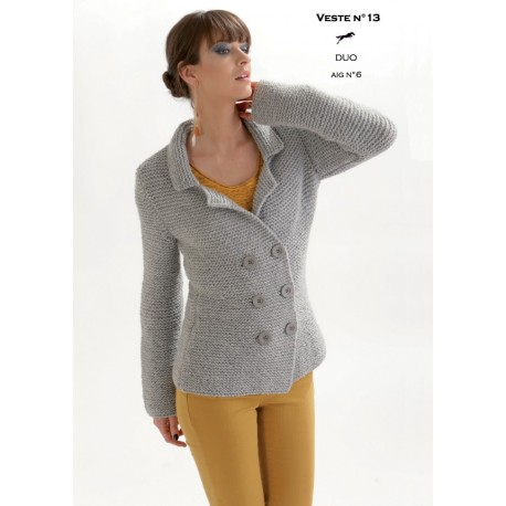 Model Jacket CB19-13 - Free knitting pattern
