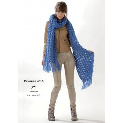 Model Scarf CB19-18 - Free knitting pattern