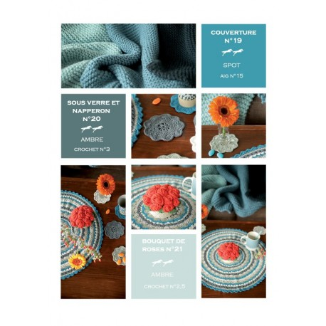 Model COASTER and PLACEMAT CB19-20 - Free knitting pattern