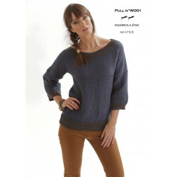 Model jumper W001 - Free knitting pattern