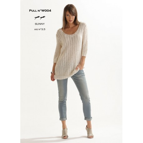Model jumper W004- Free knitting pattern