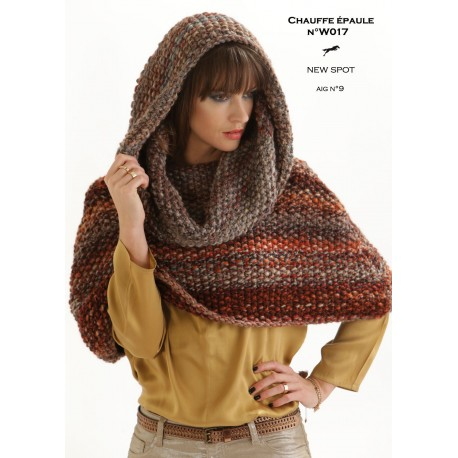 Model Small Cape W017 Free Knitting Pattern Cheval Blanc