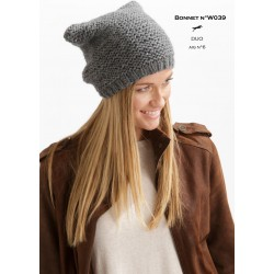 Model Bonnet W039 - Free knitting pattern