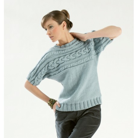 Twist Yarn Sweater Pattern CB10-01- Free knitting pattern