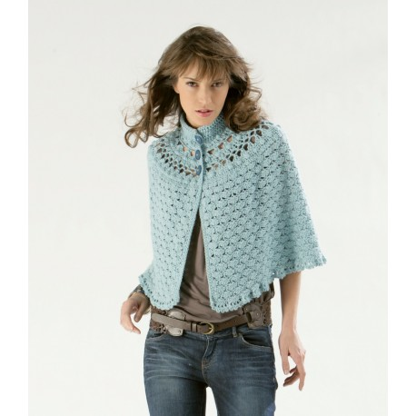 Poncho pattern CB10-03- Free knitting pattern
