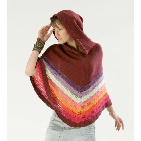 Poncho pattern CB10-15 - Free knitting pattern