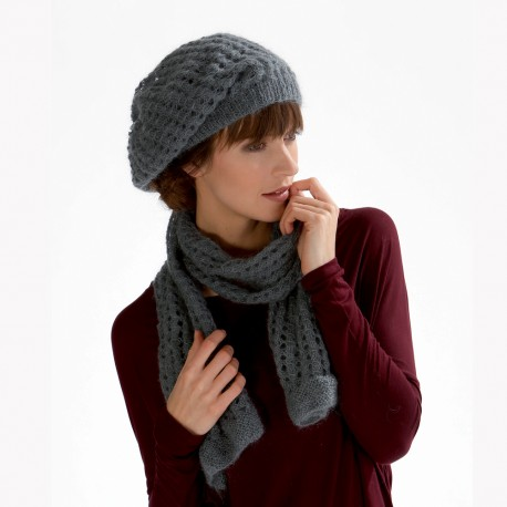 Model Scarf and hat CB17-16 - Free knitting pattern