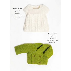 Model cardigan CB24-30 - Free knitting pattern