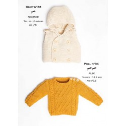 Model cardigan CB24-33 - Free knitting pattern