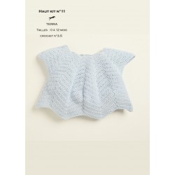 Kit crochet haut layette n°11