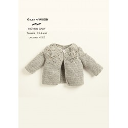 8264d30597d17 Knitting patterns cardigan baby wear - Cheval Blanc - Laines Cheval ...